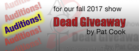 Auditions for Dead Giveaway graphic